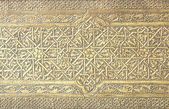 Islamic art patterns on a mosque door — Stock fotografie