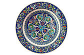 Turkish decorative tile plate - isolated — Stock Photo