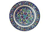 Turkiska dekorativa kakel plattan - isolerade — Stockfoto