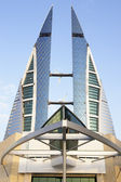 Bahrain - world trade centers — Stockfoto