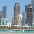 Doha - The capital city of Qatar - Stock Photo