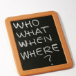 Royalty-Free Stock Photo: Who what when where