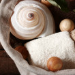 Royalty-Free Stock Photo: Sea shell and spa products