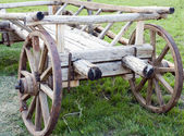 Old wooden vehicle - a cart — Stock Photo