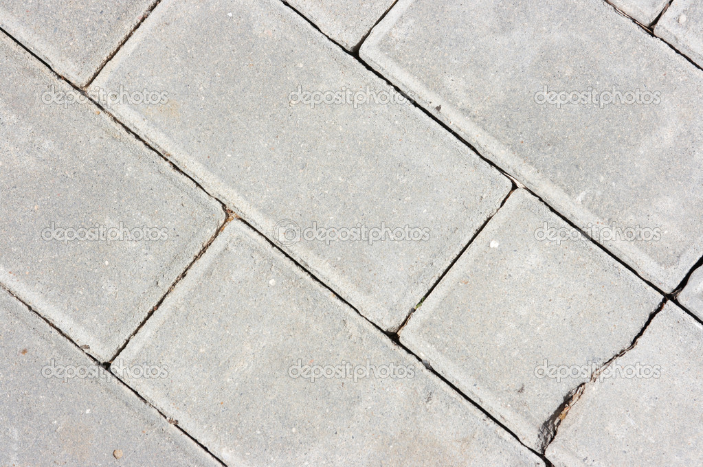 Sidewalk paved by a stone  Stock Photo #1998255