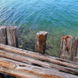 Stock Photo: Weathered dock