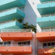 Colorful balconies — Stock Photo