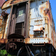 Antique train wagon - Stock Photo