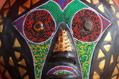 Tribal african mask — Stock Photo