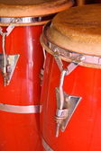Red conga drums — Stock Photo