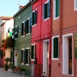 Typical colored houses in Burano - Stock Photo