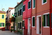 Typical colored houses in Burano — Stock Photo