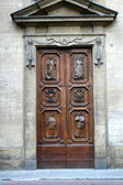 Antique carved wooden door — Stock Photo