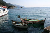 Fishing boats on the Legurian Sea — Stock Photo