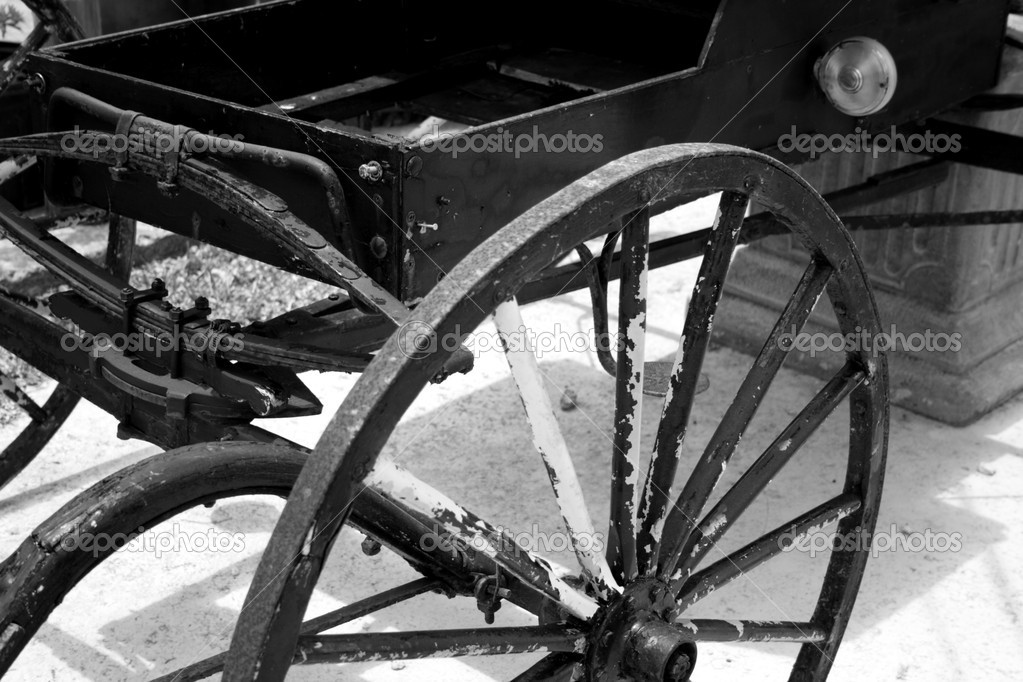 Old horse carriage closeup — Stock Photo #2112877