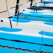 Stock Photo: Catamaran sailboats