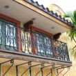 Stock Photo: Colonial style balcony