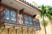 Colonial style balcony — Stock Photo