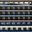 Cabins of a cruise ship — Stock Photo