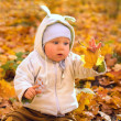 The baby in autumn park — Stock Photo #2132292