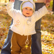 The baby in autumn park — Stock Photo #2132349
