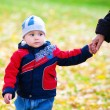 The baby in autumn park — Stock Photo #2132359