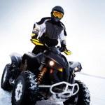 quadbike. sezon zimowy — Zdjęcie stockowe