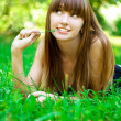 Stock Photo: Beauty girl in park