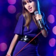 Young Woman Singing — Stock Photo #2132718