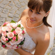 Bride with the bouquet. — Foto Stock