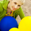 Beautiful girl with balloons — Stock Photo #2132786