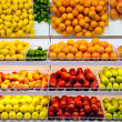 Counter with fruit in  supermarket — Stock Photo