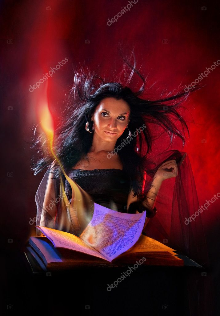 Portrait beautiful witch  Stock Photo #2132364