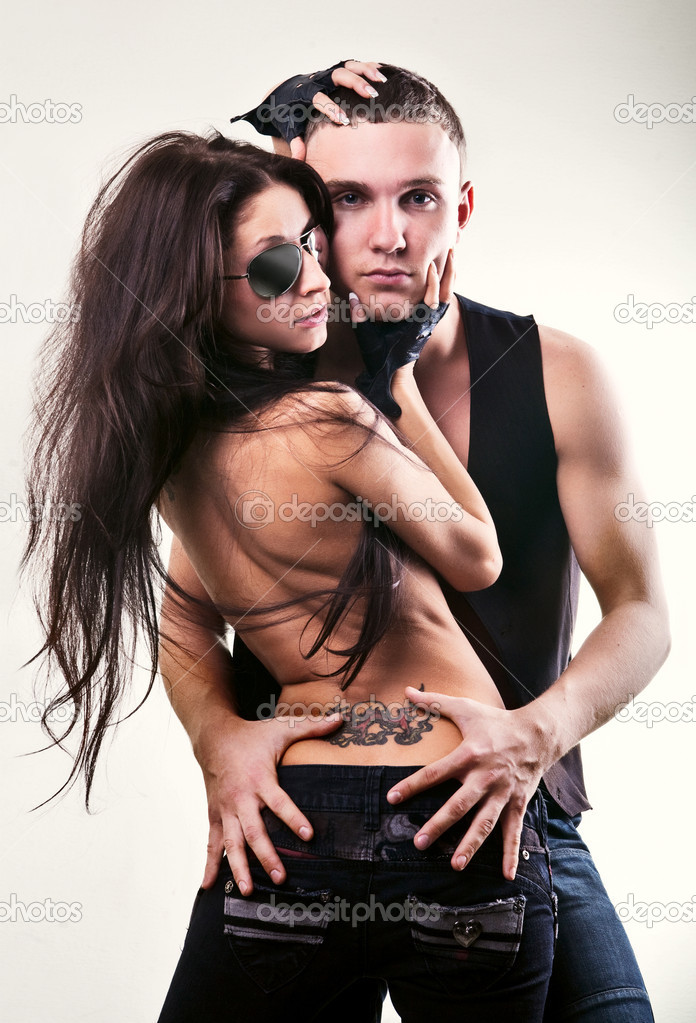 Passionate Fashion Couple image shot in studio — Stock Photo #2132998
