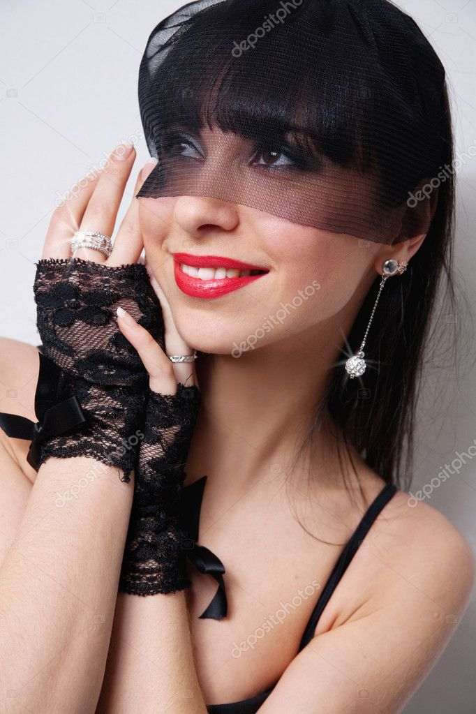 Woman in retro style  Stock Photo #2171972