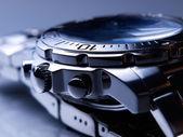 Orologio in acciaio — Foto Stock