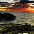 Adriatic sunset — Stockfoto