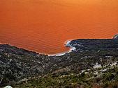 Rode zee adriatische — Stockfoto