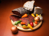 Kulen and spices — Stockfoto