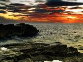 Adriatic sunset — Stock Photo