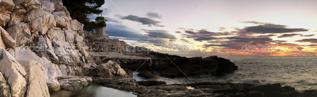 Wide view of the Adriatic sea in the twilight... — Stock Photo #2662228
