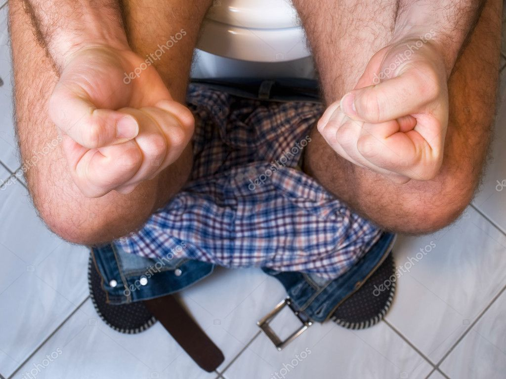 The metaphor of gastrointestinal problems like constipation or diarrhea. — Stock Photo #2662610