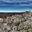 "Adriatic village ""Lubenice"" — Foto Stock"