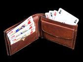 Gambling wallet — Stock Photo