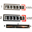 KWh counter - Foto Stock