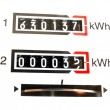 KWh counter - Stock Photo