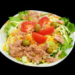 Mixed tuna salad - Stockfoto
