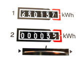 KWh counter — Foto de Stock