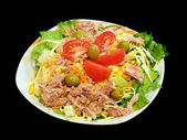 Mixed tuna salad — Stock Photo