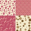 Cute backgrounds - Imagen vectorial